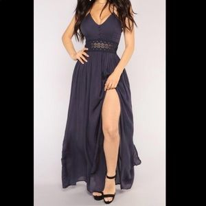 Blue maxi dress! Never worn! NWT. Cute for events